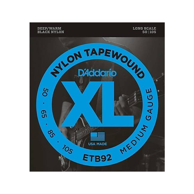 D'Addario NEW D'Addario ETB92 Tapewound Bass Strings - Medium -  .105-.050