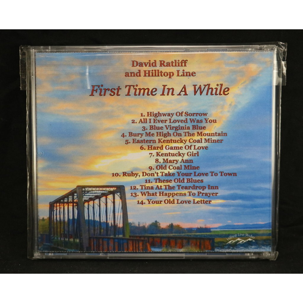 Local Music NEW David Ratliff and Hilltop Line - First Time In A While (CD)