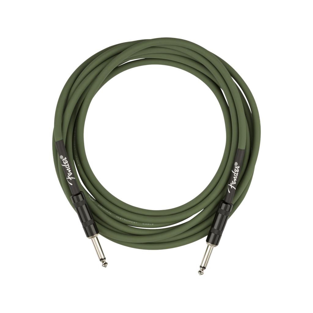 Fender NEW Fender Strummer Pro Instrument Cable - Drab Green - 13'