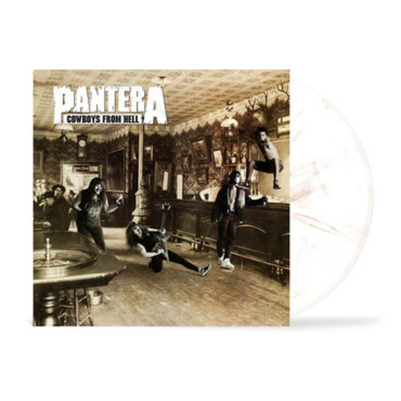 Vinyl NEW Pantera – Cowboys From Hell- LP, Limited Edition, White & Whiskey Brown Marbled