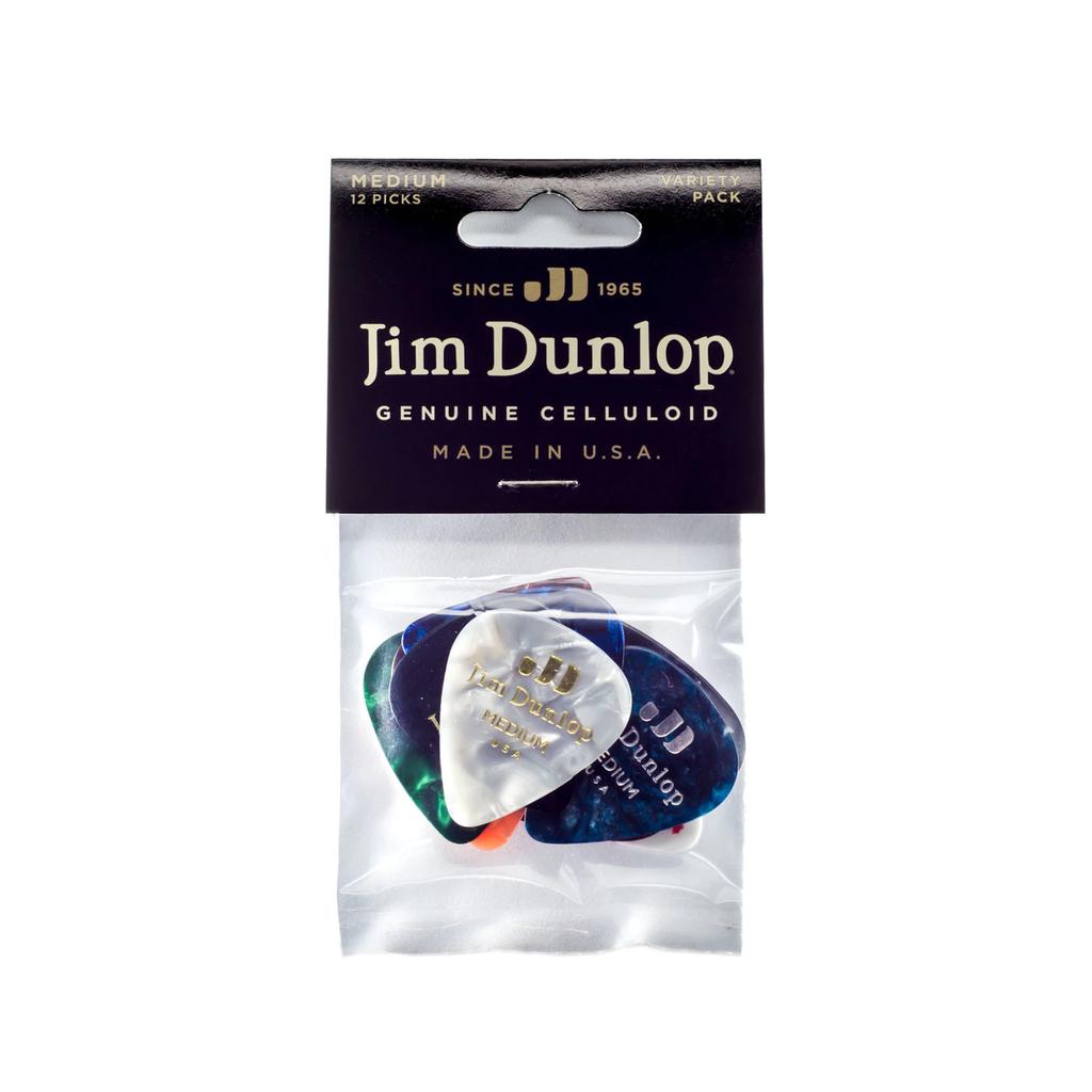 Dunlop NEW Dunlop Celluloid Guitar Pick Variety Pack - Medium