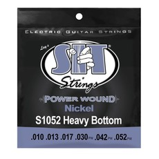 SIT NEW SIT Power Wound Electric Guitar Strings - Heavy Bottom - .010-.052