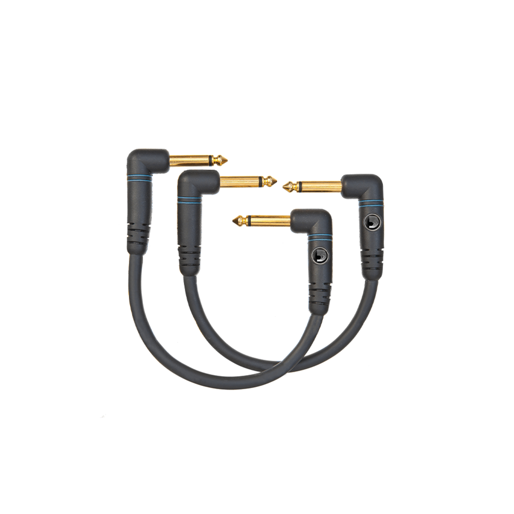 """D'Addario NEW Planet Waves Custom Series Right-Angle Patch Cable - 2-Pack - 6"""""""