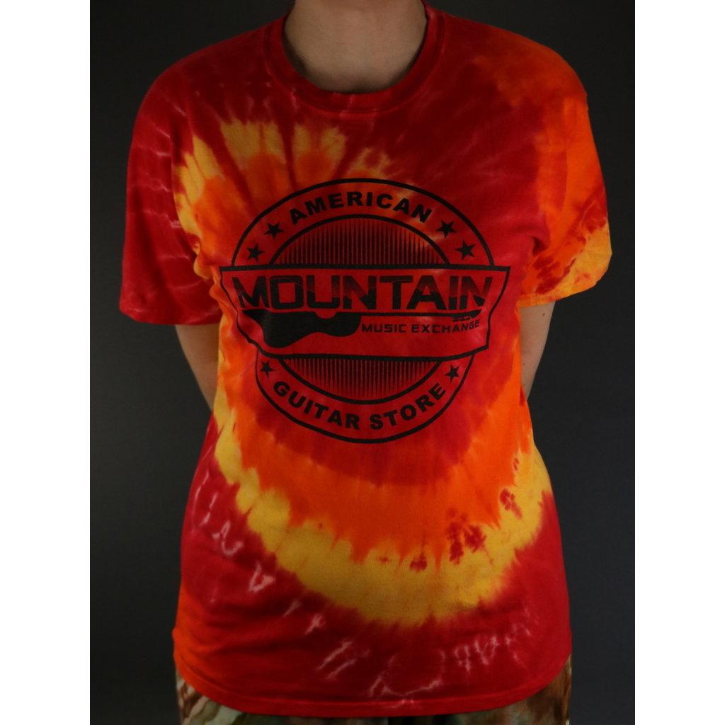 MME NEW MME 'American Guitar Store' Tee - Blaze Rainbow Tie-Dye - Small