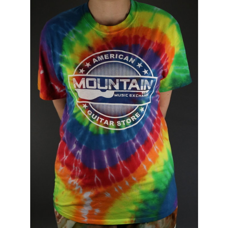 MME NEW MME 'American Guitar Store' Tee - Rainbow Tie-Dye - Large