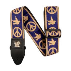 Ernie Ball NEW Ernie Ball Jacquard Guitar Strap - Peace Love Dove Beige/Navy
