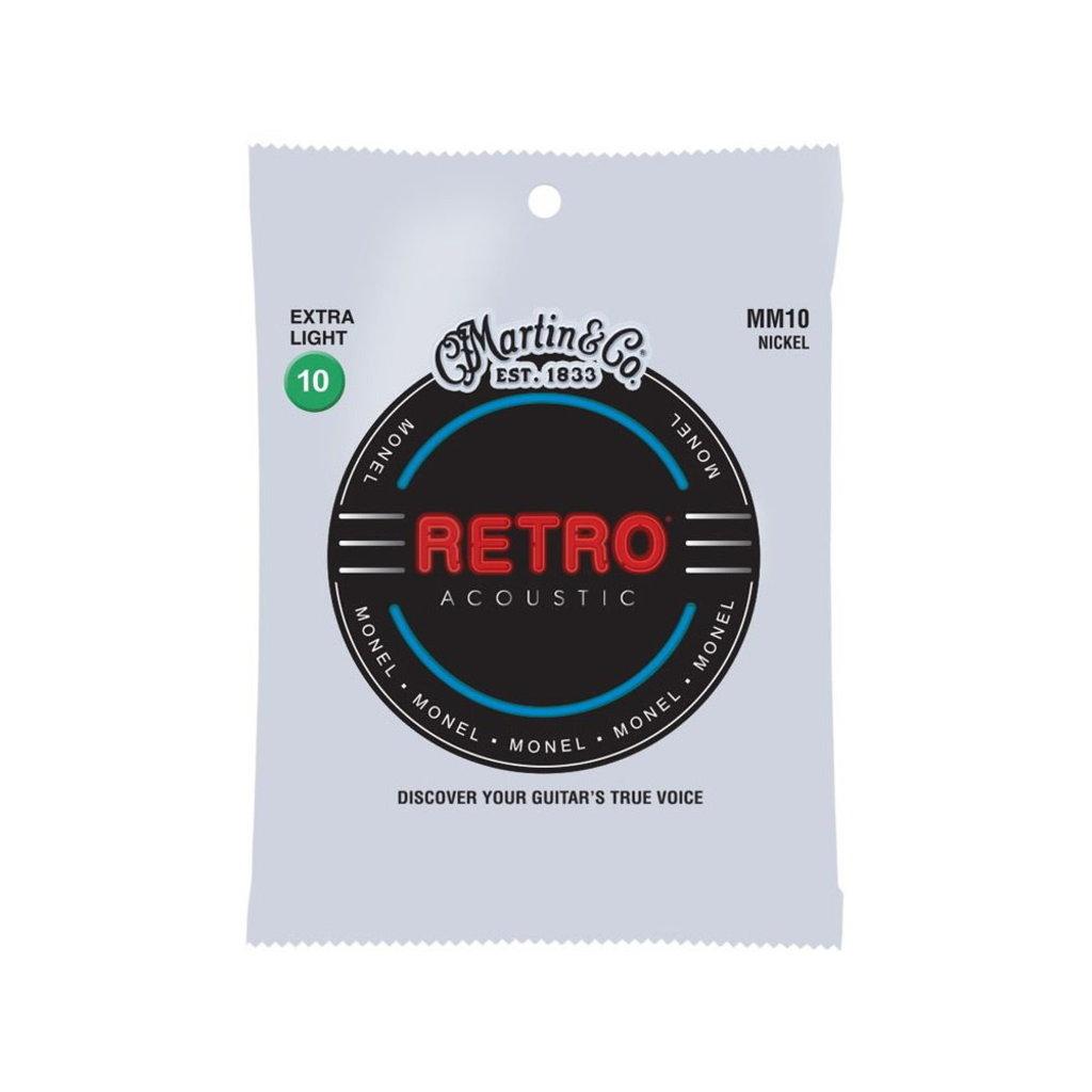 Martin NEW Martin Retro Acoustic Strings - Extra Light - .010-.047