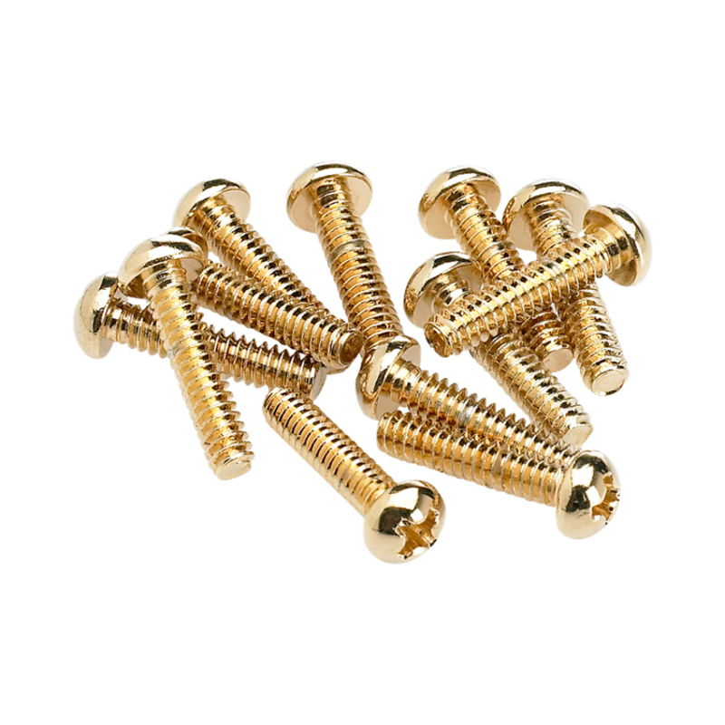 Fender NEW Fender Pickup/Selector Switch Mounting Screws - Gold - Pack of 12