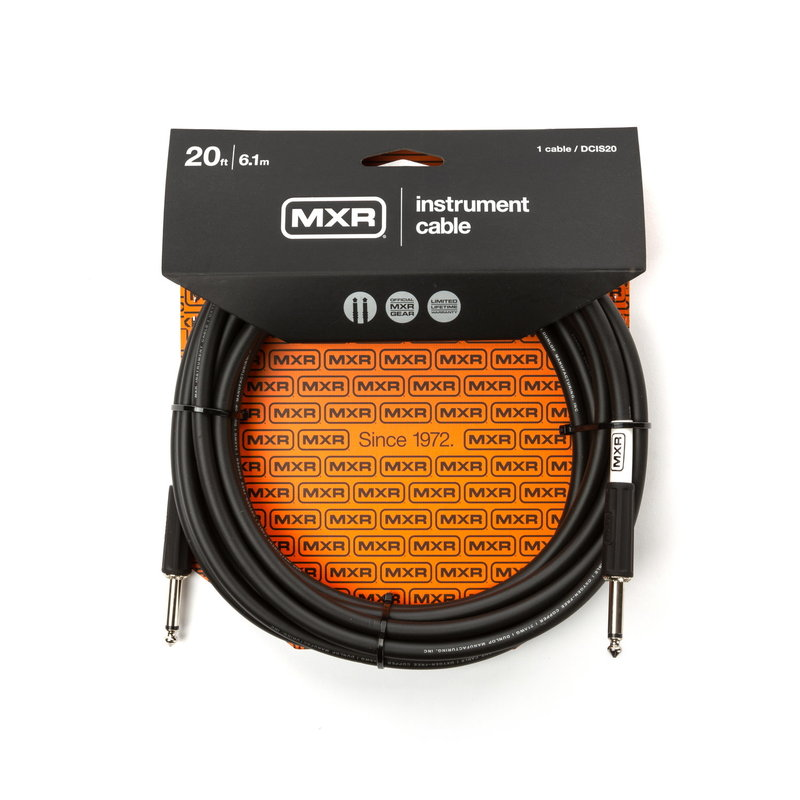 Dunlop NEW Dunlop MXR Instrument Cable - Straight/Straight - 20'