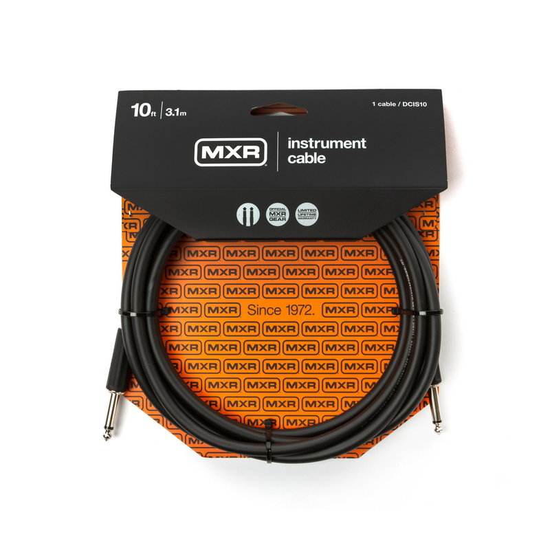 Dunlop NEW Dunlop MXR Instrument Cable - Straight/Straight - 10'