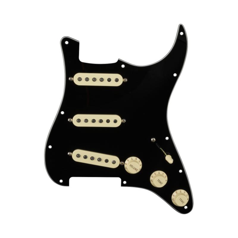 Fender NEW Fender Pre-Wired Strat Pickguard - Original '57/'62 - Black 11 Hole