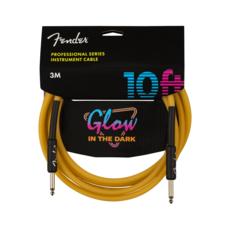 Fender NEW Fender Professional Glow in the Dark Cable - Orange - 10'