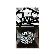 Dunlop NEW Dunlop EVHWhite/Bkack Stripes Max Grip Picks - .60mm - 6-Pack