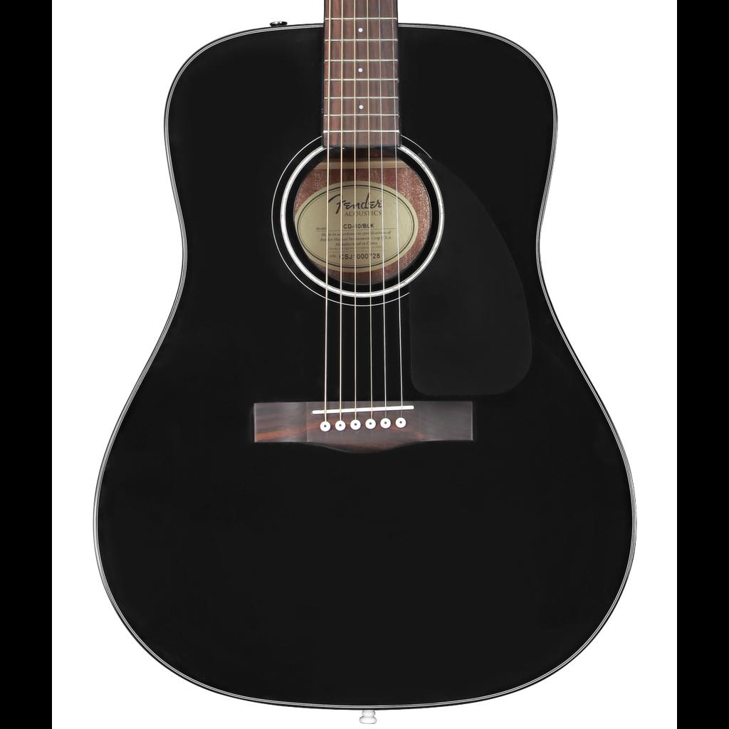 Fender NEW Fender CD-60 Dreadnought V3 w/Case - Black (178)