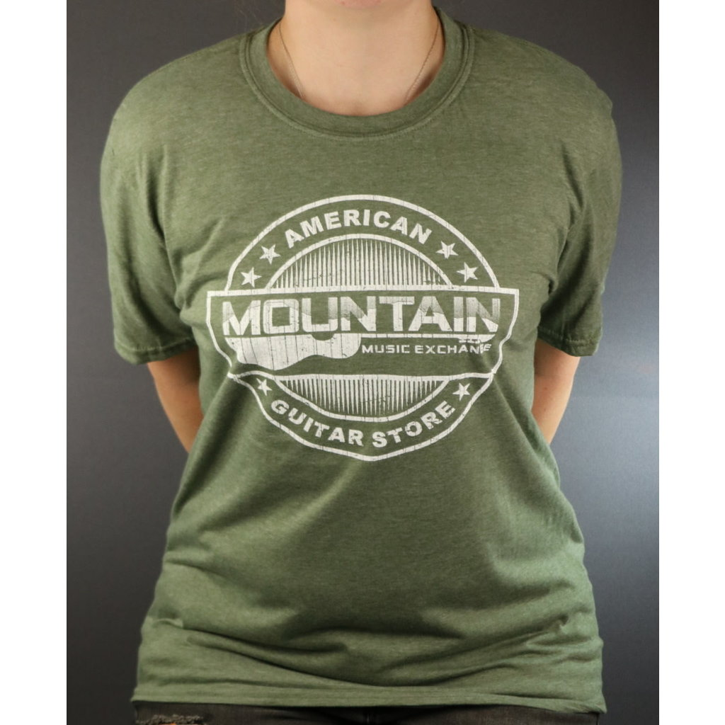 MME NEW MME American Guitar Store Distressed Logo Tee - Heather City Green - L