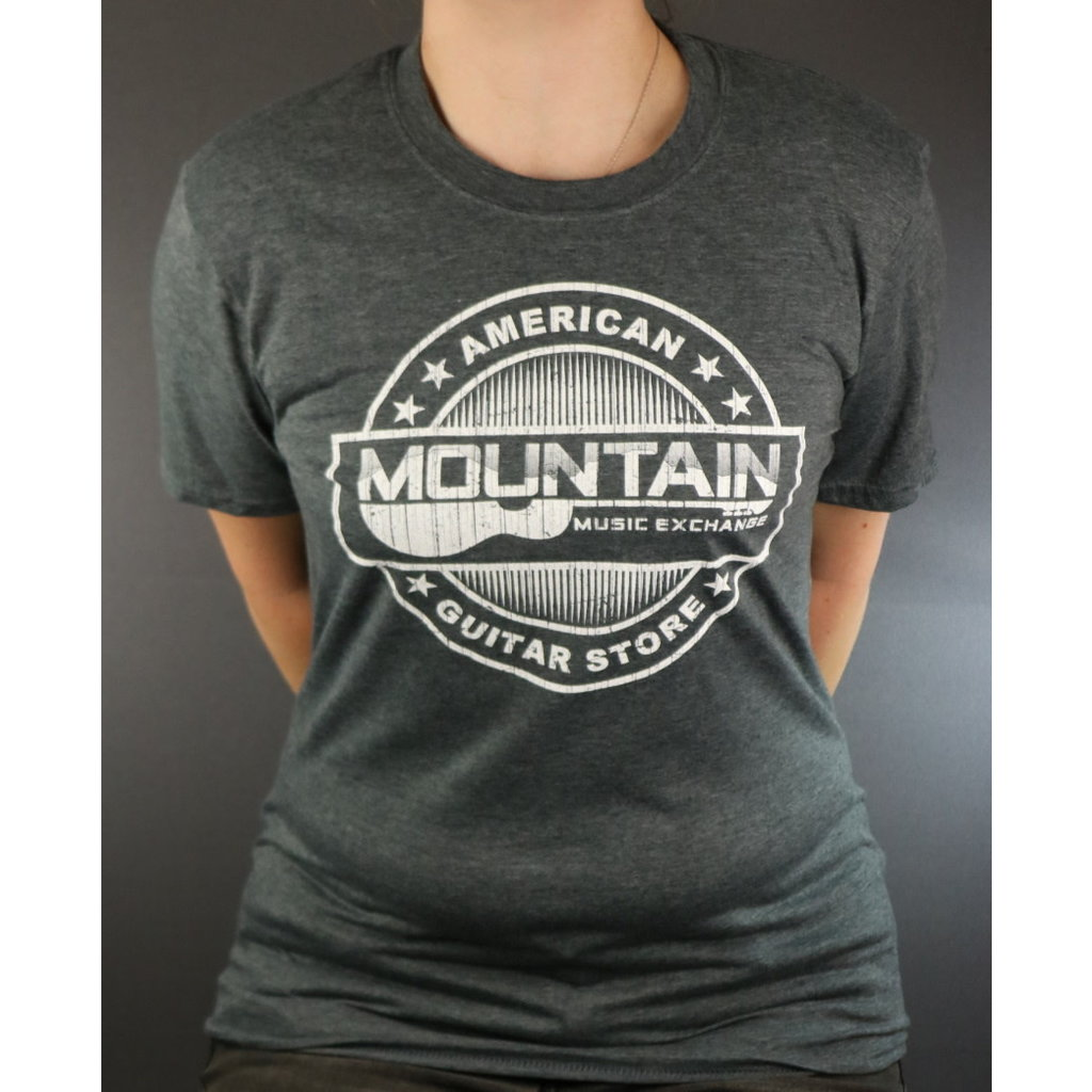 MME NEW MME American Guitar Store Distressed Logo Tee - Heather Grey - XL