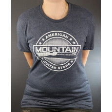 MME NEW MME American Guitar Store Distressed Logo Tee - Heather Navy - XL