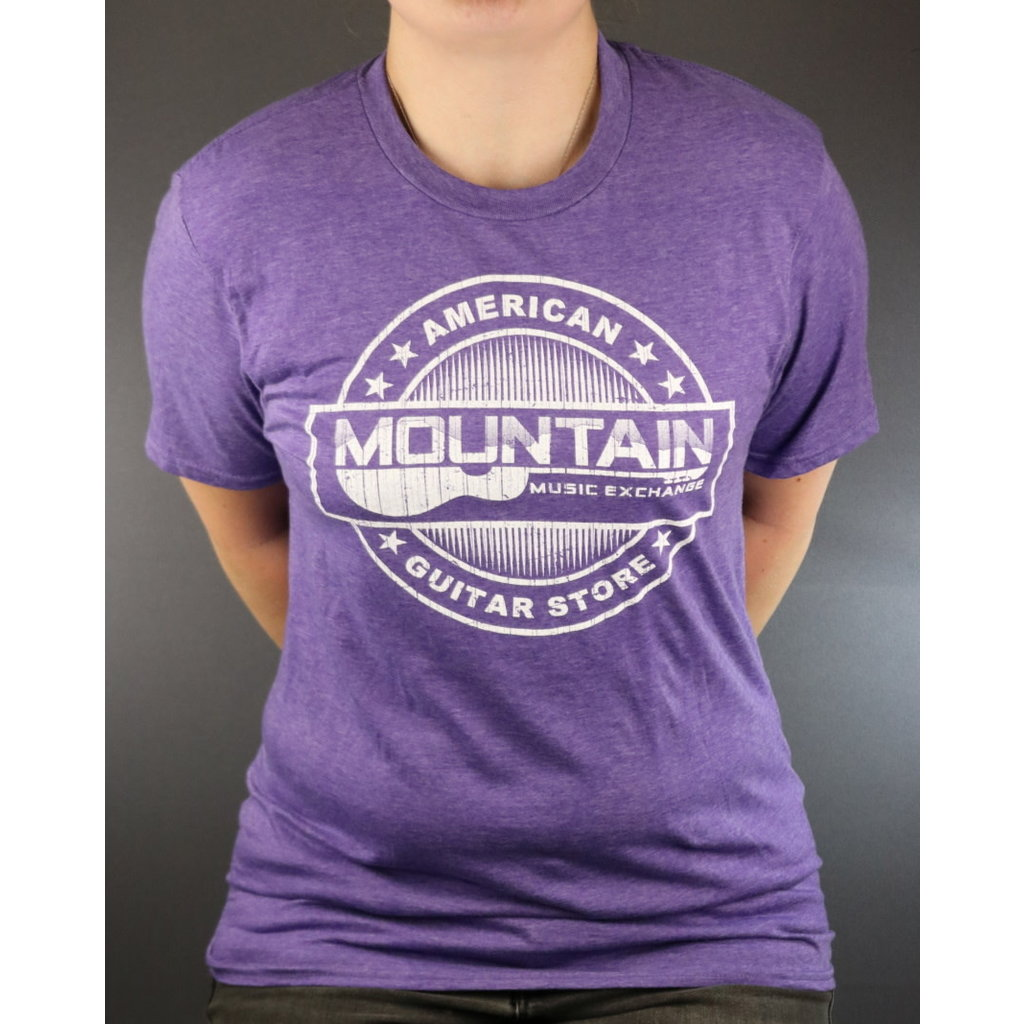 MME NEW MME American Guitar Store Distressed Logo Tee - Heather Purple - XL