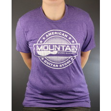 MME NEW MME American Guitar Store Distressed Logo Tee - Heather Purple - 2XL
