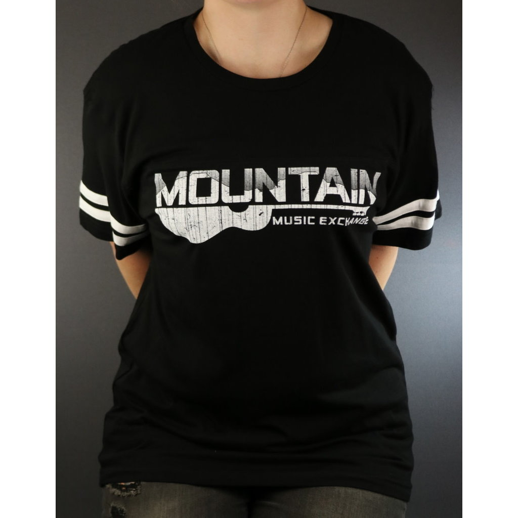 MME NEW MME Football Jersey Tee -  Black/White - Large