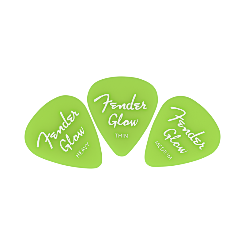 Fender NEW Fender Glow In The Dark 351 Picks - 12-Pack