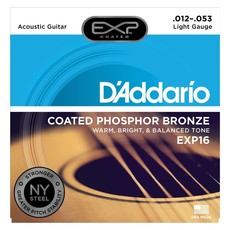 D'Addario NEW D'Addario EXP16 Coated Phosphor Bronze Acoustic Guitar Strings