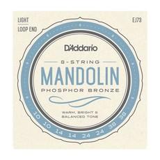 D'Addario NEW D'Addario EJ73 Phosphor Bronze Mandolin Strings - Light - .010-.038