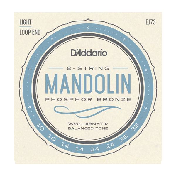 D'Addario NEW D'Addario EJ73 Phosphor Bronze Mandolin Strings - Light - .010-.038