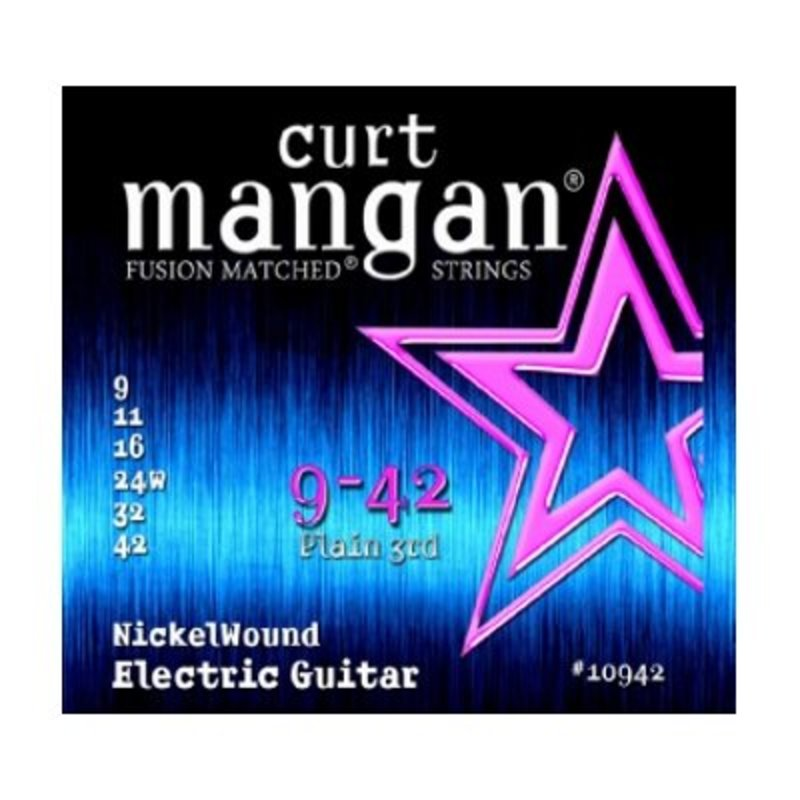 Curt Mangan NEW Curt Mangan Nickel Wound  .009-.042