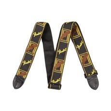 """Fender NEW Fender 2"""" Monogrammed Strap - Black/Yellow"""