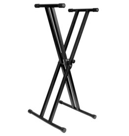 The Music Link - SK-520 Keyboard Stand, Double X Brace