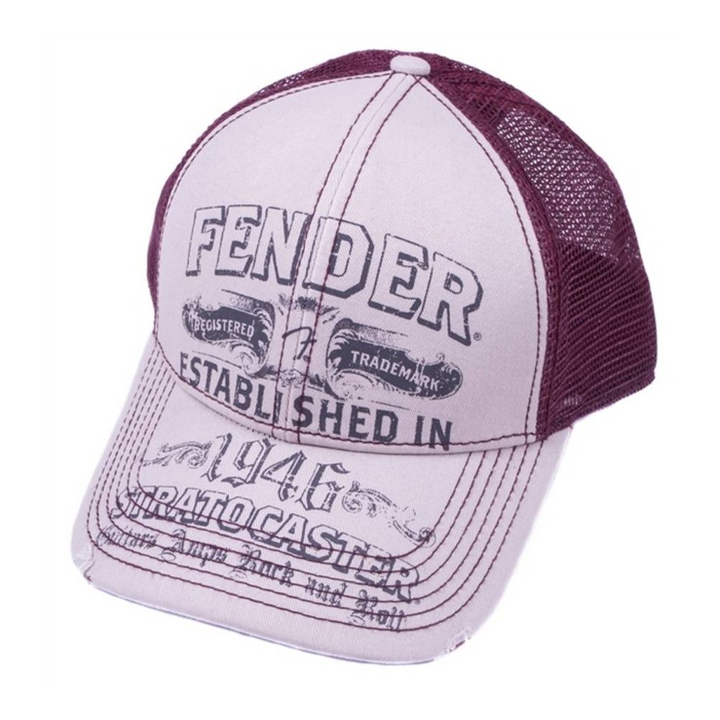 Fender NEW Fender Strat Trucker Hat - Grey - One Size