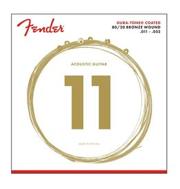 Fender NEW Fender 880CL Dura-Tone Coated Acoustic Strings - .011-.052