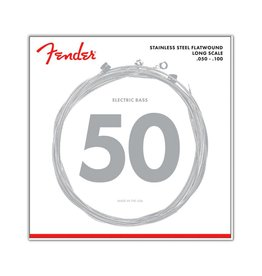 Fender NEW Fender Stainless 9050's Stainless Flatwound, 9050ML .050-.100 Gauges,