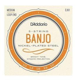 D'Addario NEW D'Addario EJ61 Nickel Banjo Strings - Medium - .010-.023