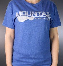 MME Mountain Music Exchange Worn Logo T-Shirt - Heather Royal - Medium
