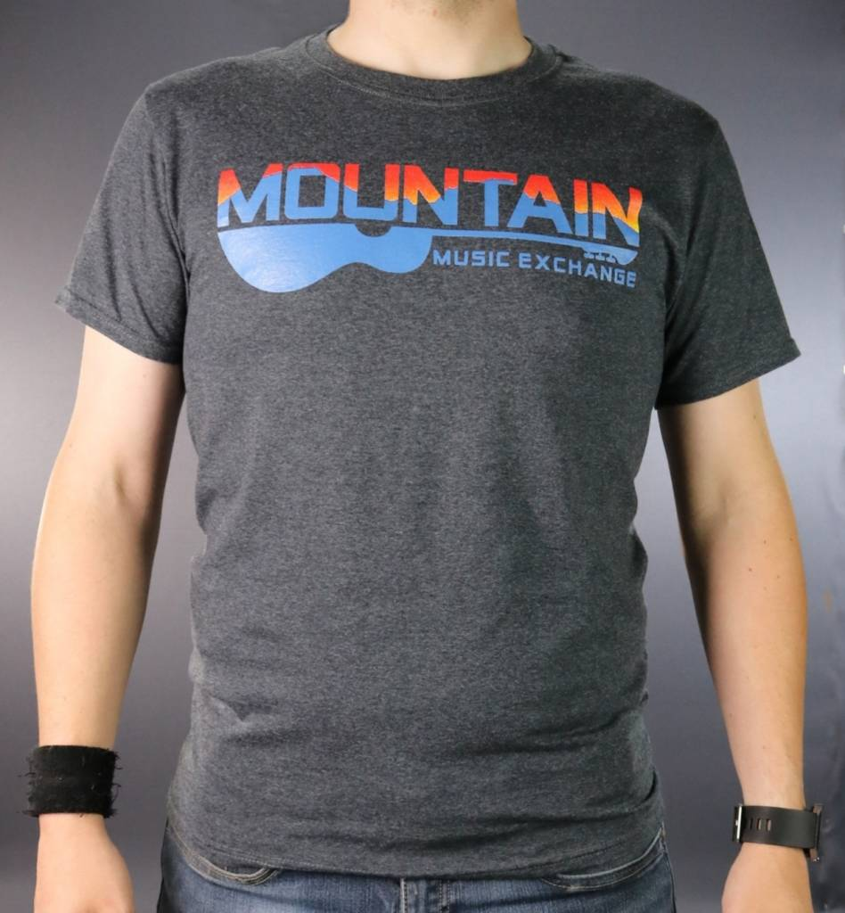 MME Mountain Music Exchange Two Color Logo T-Shirt - Black Heather - Small