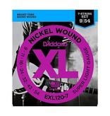 D'Addario NEW D'Addario EXL120-7 Nickel Wound 7-String Electric Strings - Super Light - .009-.054
