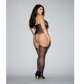 Bodystocking: Fishnet Lace Bustier