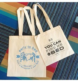 Early to Bed Tote Bags