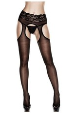 Baci Sheer Suspender Lace Top Hose (2032)