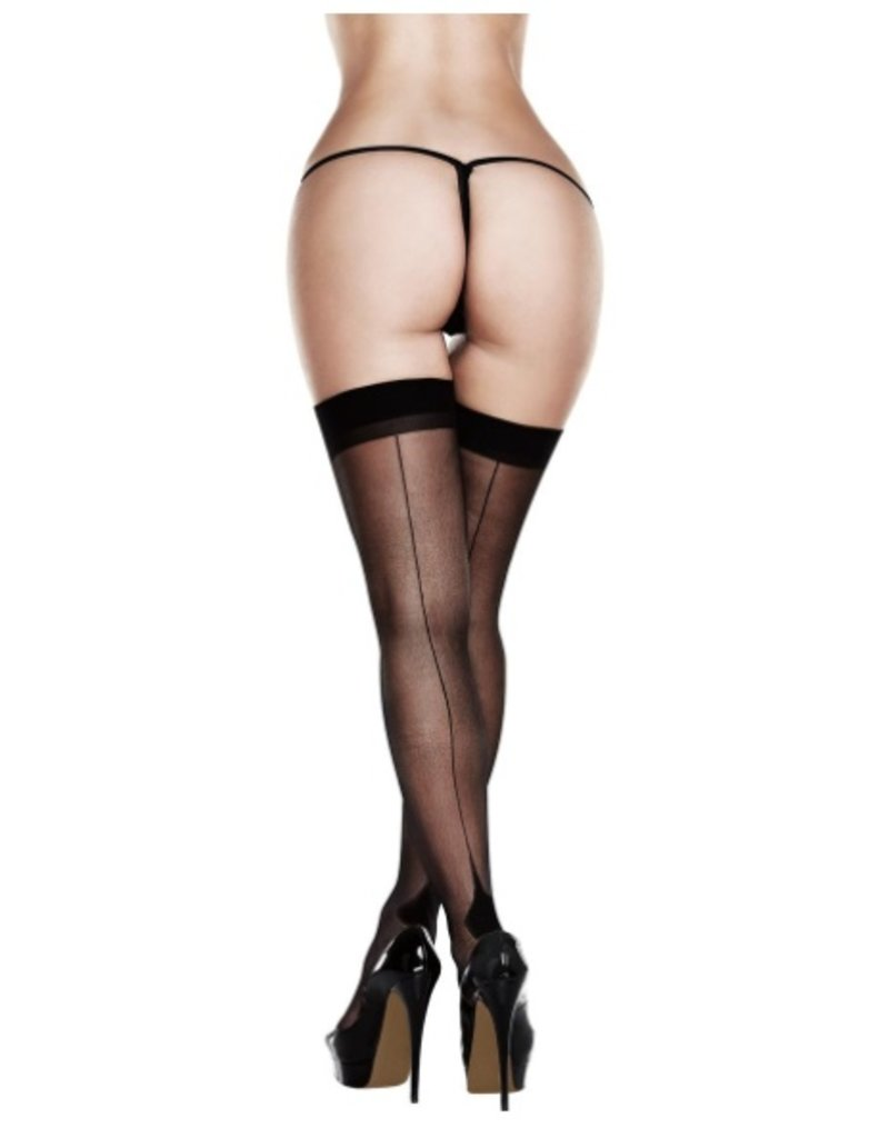 Baci Sheer Cuban Heel Thigh Highs (2033)