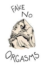 Isabella Rotman Sticker: Fake No Orgasm