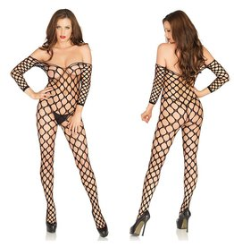 Leg Avenue Bodystocking: Ring Net Off Shoulder