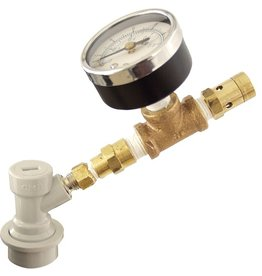 Ball Lock QD Adjustable Pressure Valve W/Gauge