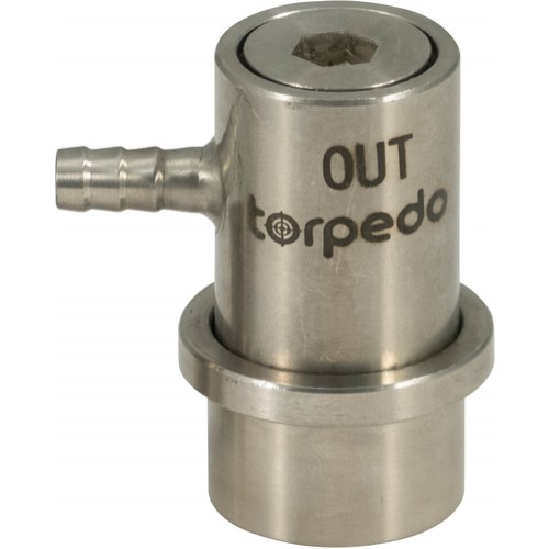 Torpedo Torpedo Ball Lock Beverage Out - Barbed Stainless