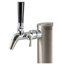 Keg King Stainless Steel Draft Tower with Intertap Flow Control Faucets