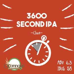OConnors Home Brew Supply 3600 Second IPA