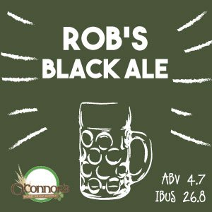 OConnors Home Brew Supply Robs Black Ale