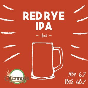 OConnors Home Brew Supply Red Rye IPA
